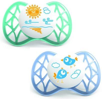 Nuvita - succhietti air tettarella simmetrica nuvita 0+ azzurro