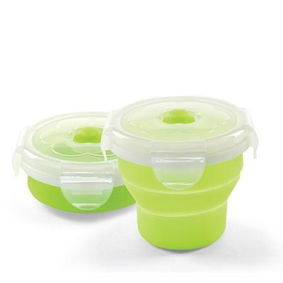 Contenitori pieghevoli silicone 230 ml Nuvita - Verde