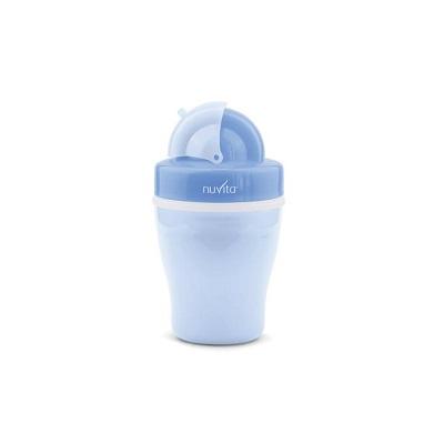 nuvita tazza con cannuccia e isola termica - blu
