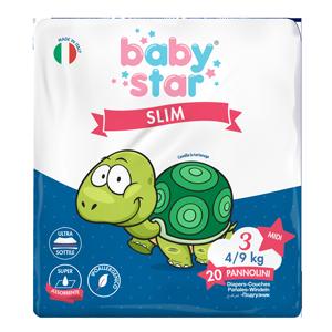 babystar slim 4/9kg t3 md 20pz